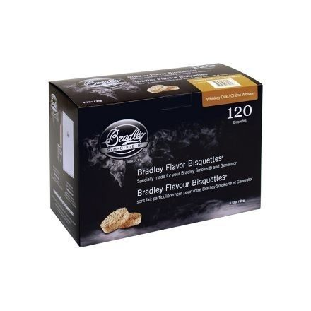 Whiskey Oak Flavour Wood Bisquettes (120 pack)