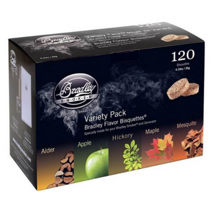 Bradley Wood Bisquettes Variety Pack (120)