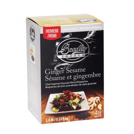 Premium Ginger Sesame Flavour Wood Bisquettes (48 Pack)