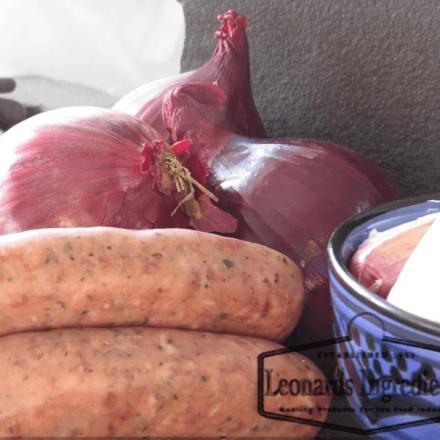 Leonards Pork & Red Onion Complete Mix 680g