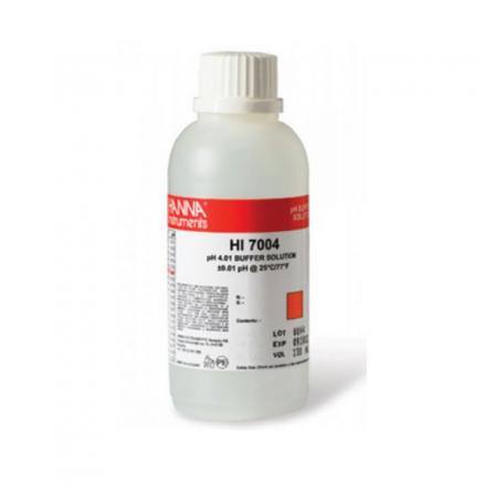 HI-7004M pH 4.01 Buffer Solution, 230ml bottle