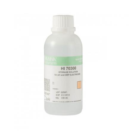 HI-70300M pH Electrode Storage Solution, 230 mL